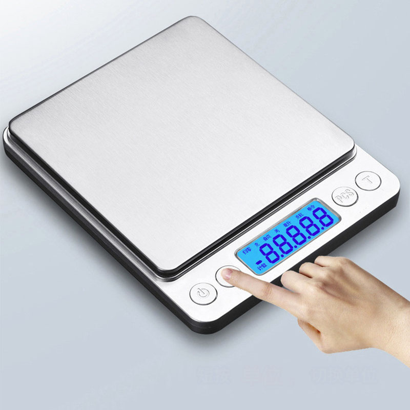 Portable Digital Scale Jewelry Kitchen Food Diet Post Room Office Balance Weight Scales 500/1000/2000/3000G Kitchen Accessories