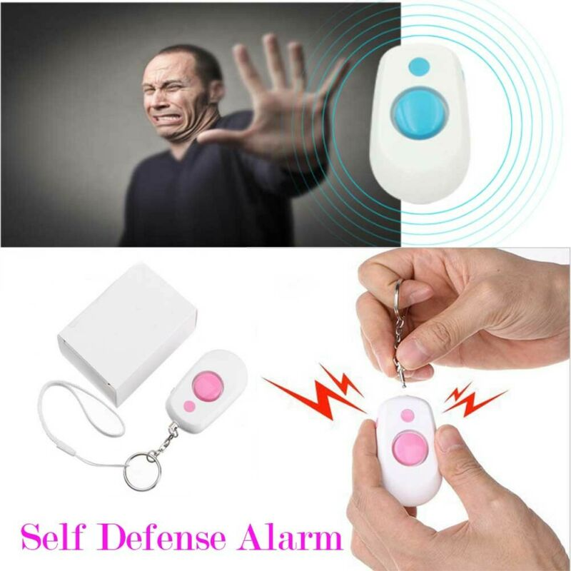 130db Personal Panic Rape Attack Safety Keyring Alarms Torch Self-Defense Tool