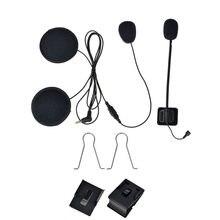 Fodsports Motorrad Helm Bluetooth Intercom Zubehör Weiche Fest Mikrofon Stereo Headset Gelten V6 PLus Intercomunicador