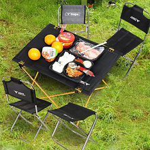 купить Folding Desk Portable Camping Table Large Size Outdoor Furniture Tables Picnic Aluminium Alloy дешево