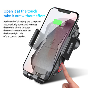 Image 5 - Soporte para cargador de coche inalámbrico, sujeción automática, 10W, 7,5 W, Qi, carga rápida, soporte de teléfono para iPhone X, Samsung, Xiaomi, Huawei