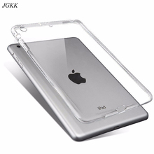 for iPad 2 3 4 Case Silicone Soft Cover Apple 9.7 2017 2018 Cases TPU Back Protective 10.2 2019 Clear