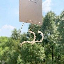 2020 Korean Simple Heart Shape Simulated Pearl Earrings for Women Elegant Gold Color Metal Big Hoop Earrings Wedding Jewelry korean sweet heart shape simulated pearl earrings for women girls gold color white pearl hoop earrings statement jewelry gift