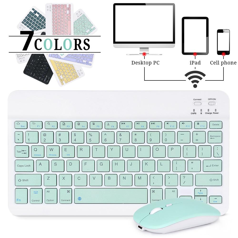 Беспроводная мини-клавиатура, Bluetooth-клавиатура для ipad, телефона, планшета, iPad, Bluetooth-клавиатура и мышь для Samsung, Xiaomi, Android