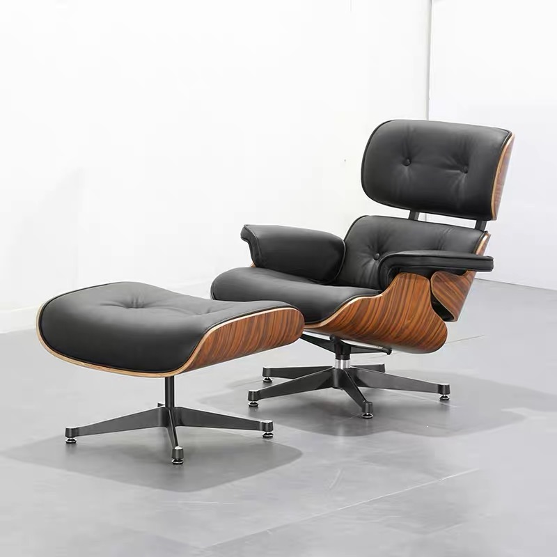 U-BEST Sleeping Chair Chales Ems Lounge Chair In Cowhide,popular Design Lounge Chair With Ottoman