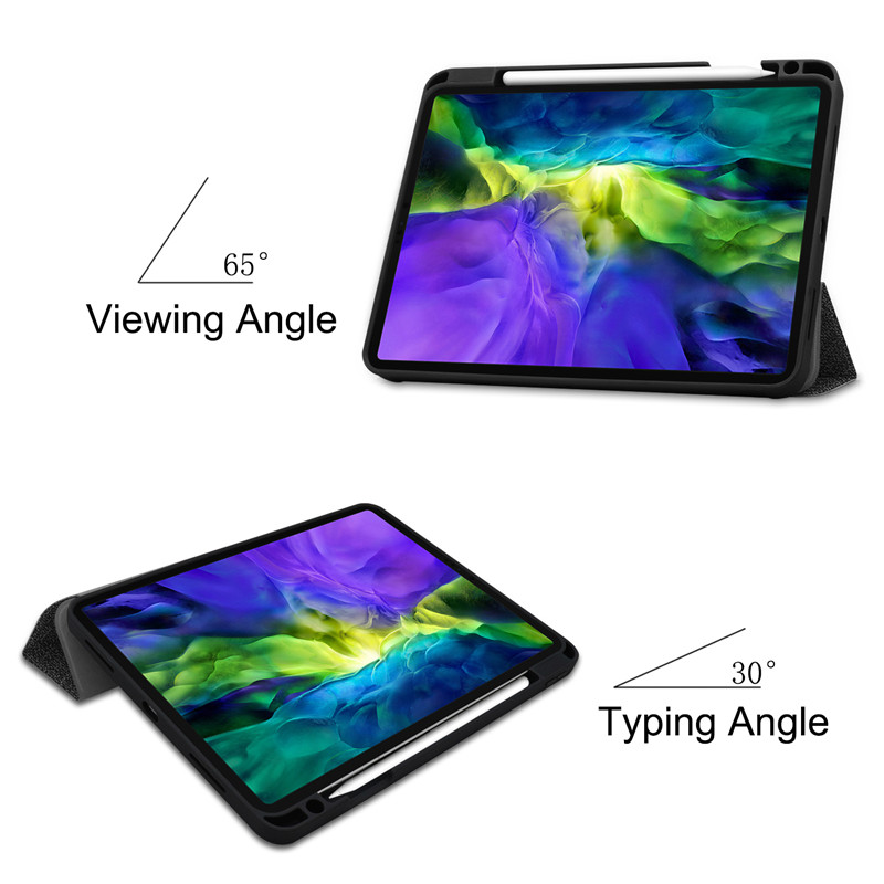 Textured With Funda iPad Cloth 2020 Stand + TPU Soft Holder Case Smart 11 For Pro Pencil