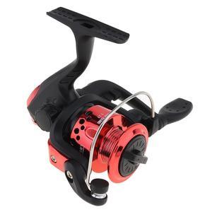 Image 5 - Kırmızı/mavi Mini 200 serisi 3BB rulman 5.2:1 dişli oranı iplik balıkçılık Reel 100m 3 # döngüler döndür balıkçılık Reel
