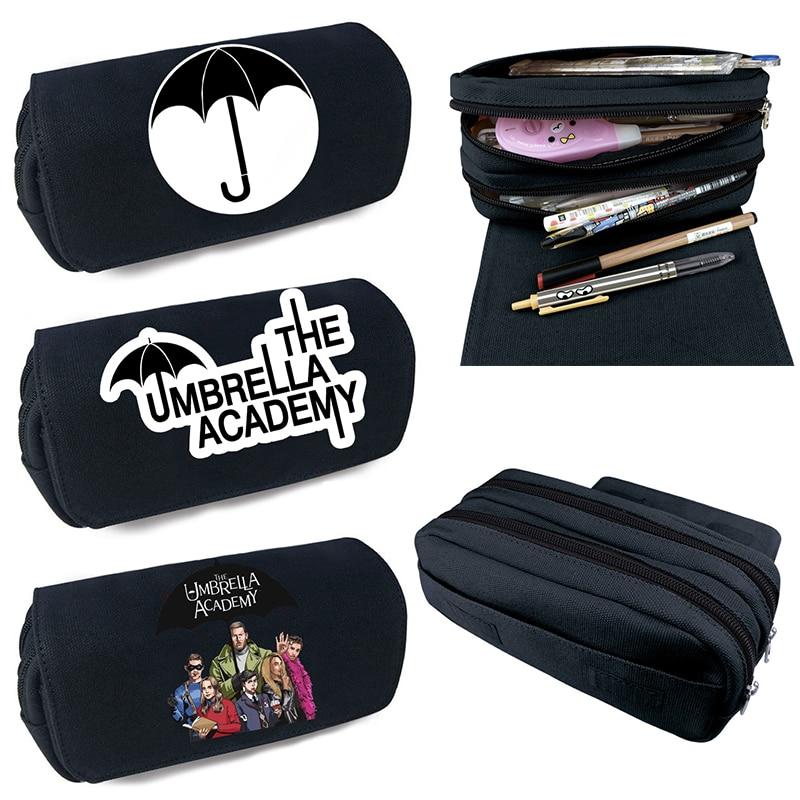 The Umbrella academy Functionary Pencil Case Bag Kids Boys Cartoon Pen Bag Students Pencil Box Stationery Storage Bag Girls Pen