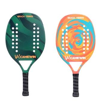 New Popular Beach Tennis Racket Carbon Fiber Men Women  Sport Soft Face Tennis Racquet with Paddle Bag Cover 2