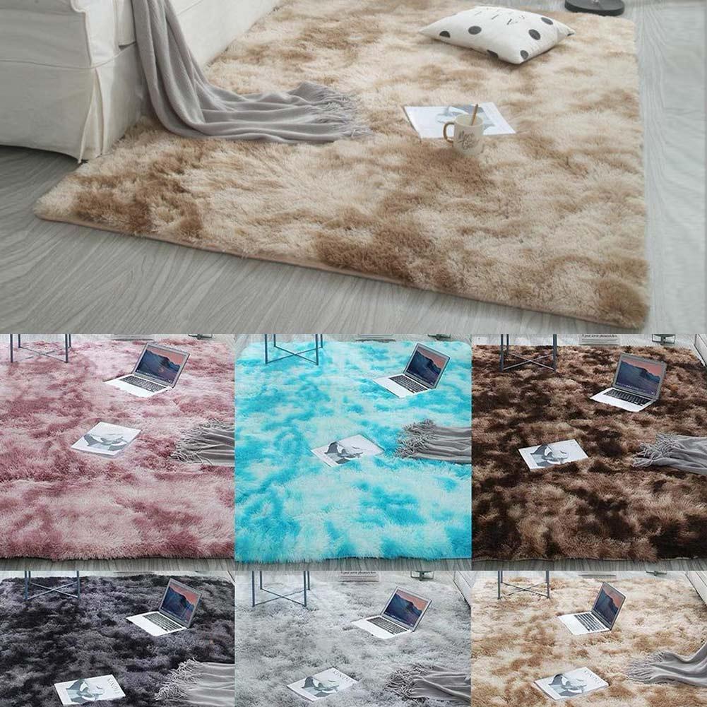 Moderns Abstract Rugs Mat Decor Bedroom Living Room Fluffy Shag Rug Plush Carpet OCT998