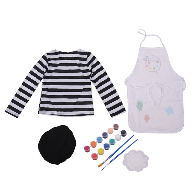 Child-Little-Girls-Talented-Artist-Professional-Clothing-Painter-Fancy-Dress-Halloween-Cosplay-Carnival-Costume