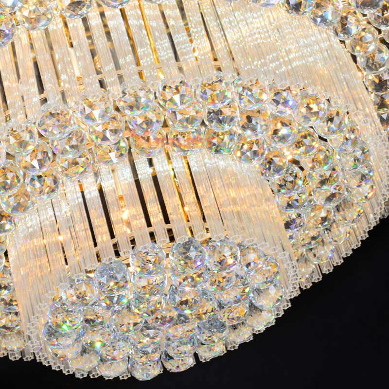 คริสตัลโมเดิร์นโคมไฟเพดานโคมไฟ Luxury โคมไฟเพดาน Golden luminaria deckenleuchte รอบโคมไฟคริสตัล LED Fixture