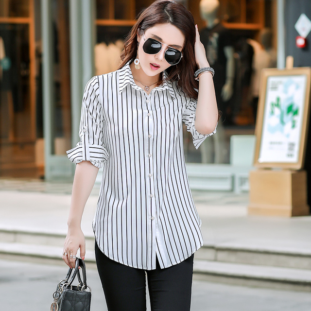 New Fashion Print Blouses Women Long Style Shirts 2019 Cotton Ladies Tops Long Sleeve Blusas Femininas Plus Size Women Clothing 6
