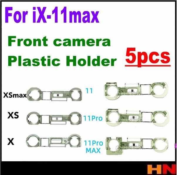 5 個交換部品フラッシュランププラスチックリングミドルフレームシャーシのベゼル 11 プロxi × xr xs最大プラスチックホルダーカムクリップリングフレームベゼル