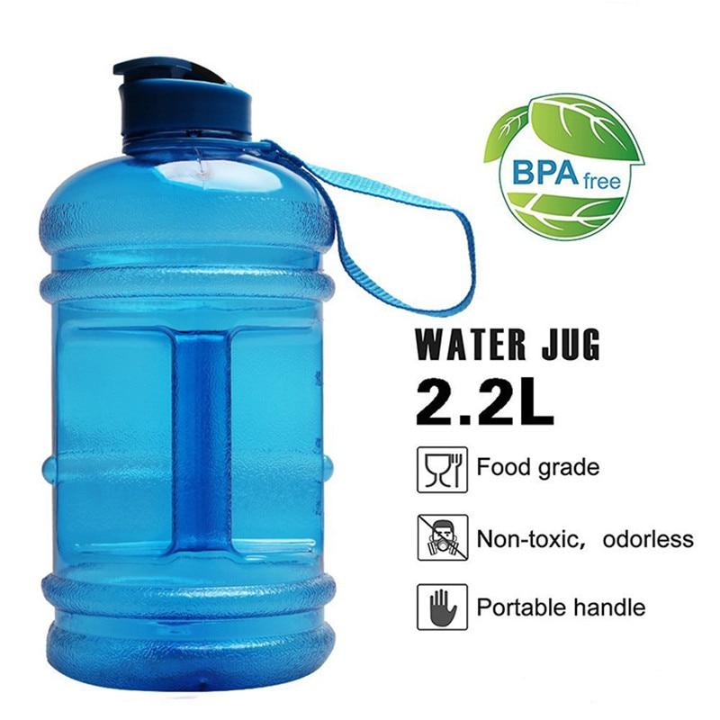 Gömme yaşam 2.0L büyük kapasiteli su şişesi Bpa Free Shaker Protein plastik spor su şişeleri 70oz spor salonu el kavrama spor su ısıtıcısı