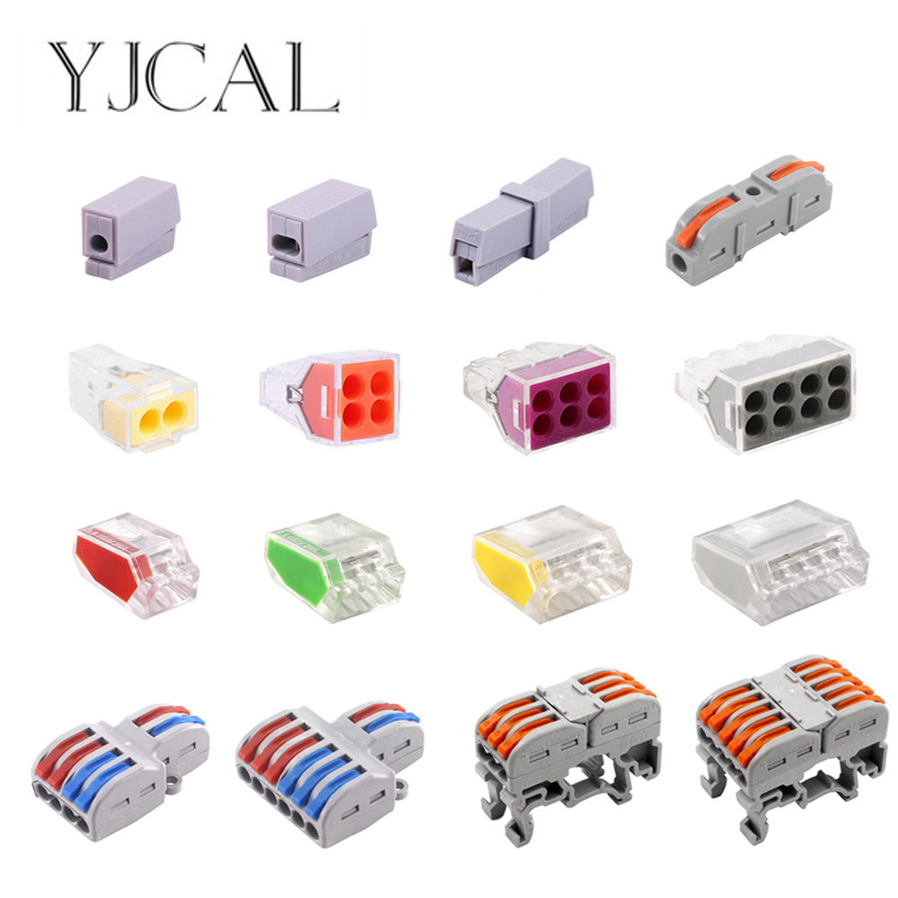 Wire Connector Push-in Terminal Electrico Block Compact Wiring Splicing Conector Eletrico Universal Electrician Tool Set China