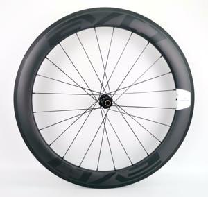 Image 3 - 700C 60mm depth road bike carbon wheels 25mm width Tubular/clincher bicycle carbon wheelset UD matte finish EVO decals