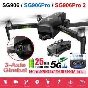Беспилотный летательный аппарат SG906 PRO 2 GPS с 3 оси самостабилизирующийся Gimbal Wi-Fi FPV 4K Камера Дрон с бесщеточным двигателем Дрон Квадрокоптер ...