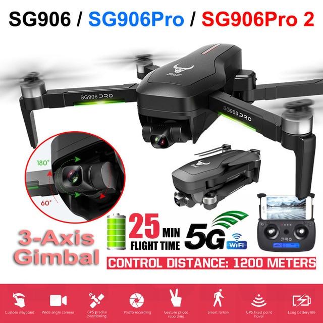 Máy Bay Không Người Lái SG906 PRO 2 GPS Với 3 Trục Tự Ổn Định Gimbal WiFi FPV Camera 4K Dron Không Chổi Than Drone quadcopter ZLL Quái Thú Sg906pro