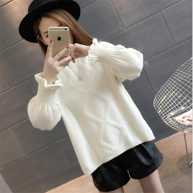 2019 Winter Pullovers Women's Sweaters Wool O-neck Knitted Jumper Tops Feature Product Blends Yarn Cashmer