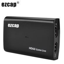 1080P 60fps HDMI Video Capture Card USB 3.0 Mic Audio Game Recorder for PS4 Xbox Vmix OBS Youtube Live Streaming Plate 4K Loop