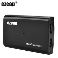 1080P 60fps HDMI Video Capture Card USB 3,0 Mic Audio Spiel Recorder für PS4 Xbox Vmix OBS Youtube Live streaming Platte 4K Schleife