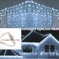 Водонепроницаемый открытый постоянный Рождество светильник Droop 0,4-0,6 м 8 м-48 м светодиодный занавес сосулька струнный светильник s Mall карниз ...