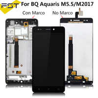 Per Bq Aquaris M5.5/Bq Aquaris M2017 Display Lcd con Touch Screen Digitizer Assembly con Telaio per Bq M5.5 pannello Lcd Tactil