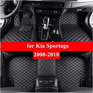 Автомобильные коврики для Kia sportage 2000-2013 2014 2015 2016 2017 2018 Flash Mat кож специальные подушечки автомобильный коврик крышка