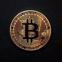 Pozłacane monety Bitcoin pamiątki BTC Metal fizyczne Casascius kolekcja grafika antyczne imitacje pamiątkowe monety prezent