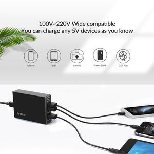 Image 5 - オリコ6ポートデスクトップ充電器QC2.0高速携帯電話のusbアダプタhuawei社xiaomi lg iphone eu/米国/英国/auプラグ