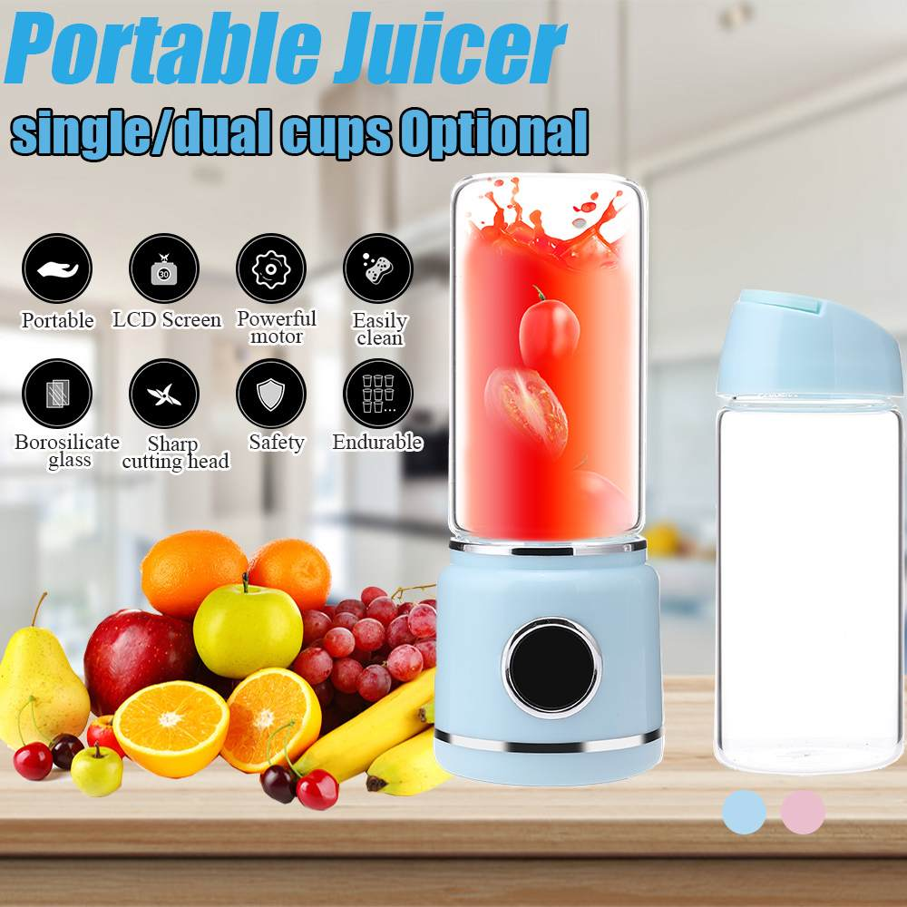 450ml Portable Screw Juicer Electric USB Juices Smoothie Press Blenders Machine Mixer Mini Juicer Cup Maker Can Be Power Bank|Juicers| |  - title=
