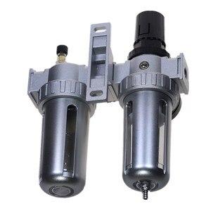 Image 3 - Air Compressor Oil Lubricator Moisture Water Trap Filter Regulator With Mount SFC 200 1/4 1/2 3/8 0 1Mpa 0 150 PSI