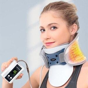 Image 5 - 2018 elétrica pescoço cervical dispositivo de tração ajustável colar inflável casa massagem spondylosis colar pendurado pescoço quadro