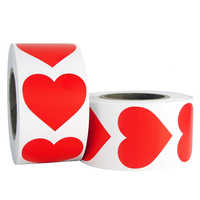 500pcs/roll Heart-Shaped Love Sticker Seal Labels Scrapbook for gift Packaging Birthday Party Supplies cute stationery sticker