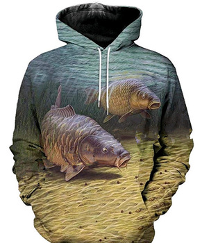 2020 New 3D Fishing Clothes Long Sleeve Plus Size Hoodies Sweatshirt Coat Outdoor Sports Clothing - discount item  36% OFF Fishing