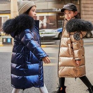 Image 1 - 2020 אופנה מותג ילדה למטה מעיל חם תינוק ילדים למטה מעיילי מעיל פרווה ילד נער עיבוי הלבשה עליונה לחורף קר