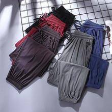 Домашние брюки из вискозы с широкими штанинами Женская Весенняя