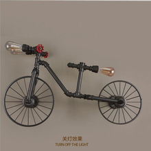 Iron Bike Industrial Wall Lamps LED Light Strange Creative Vintage Lamp Free Shipping