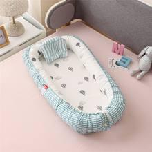 Cuna portátil de bebé con dibujos animados, 95x55cm, cuna para recién nacido, cuna de bebé plegable de viaje, cuna de bebé, nido de bebé de algodón