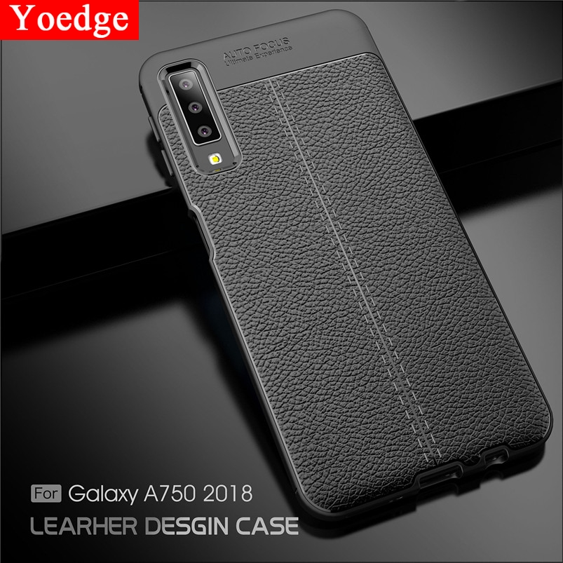 TPU Case For <font><b>Samsung</b></font> Galaxy A7 A8 A6 J4 J6 Plus J8 2018 J2 Pro J3 J5 J7 Duo Max Prime A3 A5 <font><b>2016</b></font> 2017 Litchi Leather Cover Funda image
