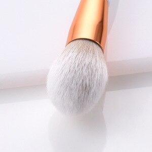 Image 4 - 4/8 pçs maquiagem escova kit macio cabelo sintético punho de madeira compõem escovas fundação pó blush eyeshadow cosméticos maquiagem ferramentas