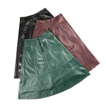2020 Women Spring Genuine Real Sheep Leather Skirt E56 2020 women spring genuine real sheep leather pants e54