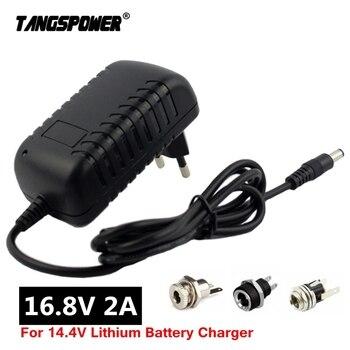цена на 16.8V 2A li-ion Battery Charger for 14.4V 18650 Lithium Battery 5.5mm x 2.1mm DC Power Jack Socket Female Panel Mount Connector