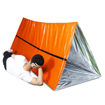 Portable Waterproof Aluminum Gold Color Foil Emergency Blanket Windproof First Aid Survival Rescue Curtain Camp Tent