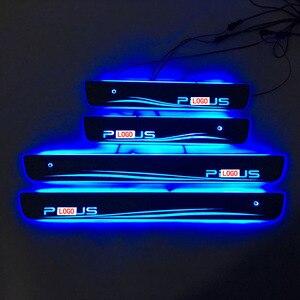 Image 5 - Carro estilo para toyota prius led peitoril da porta placa de chinelo pedal bem vindo limiar brilhante brilhante pedal para toyota prius