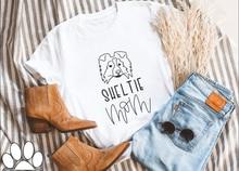Sheltie – t-shirt à manches courtes et col rond pour femme, 100% coton, avec lettres imprimées, personnalisé, maman, chien, maman