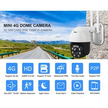 3G 4G LTE Kamera 1080P HD PTZ Kamera 9 LED IR Nachtsicht CCTV P2P IP Kamera outdoor IP66 Cam Euro Asien Pacific EU Stecker(China)