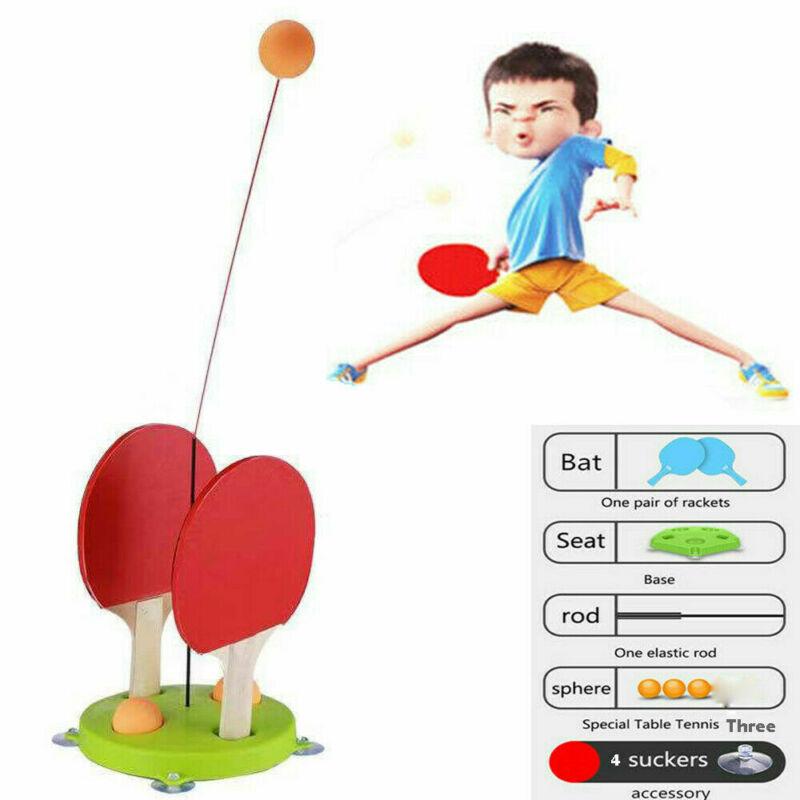 Details About  Table Tennis Trainer Equipment Rebound Robot Rebound Training Fixed Indoor
