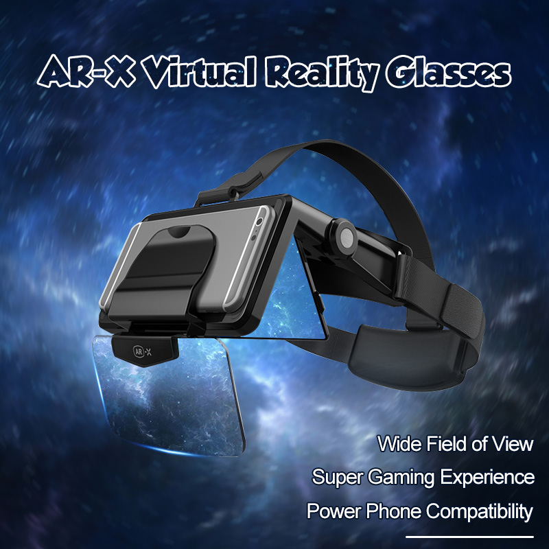 FIIT <font><b>AR</b></font>-X <font><b>AR</b></font> Smart <font><b>Glasses</b></font> Enhanced 3D <font><b>VR</b></font> <font><b>Glasses</b></font> Box Headphones Virtual Reality Helmet <font><b>VR</b></font> Headset For 4.7-6.3 inch Smartphone image